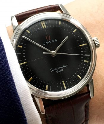 1967 Wonderful Omega Seamaster 600 Speedmaster Companion Vintage black dial