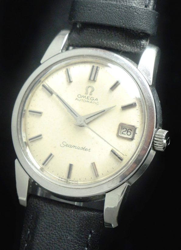 Omega Seamaster Automatik Automatic Stahl Steel with Onyxindices