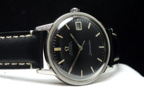 RESERVED 1967 Omega Seamaster Automatik Automatic Stahl Steel with black dial