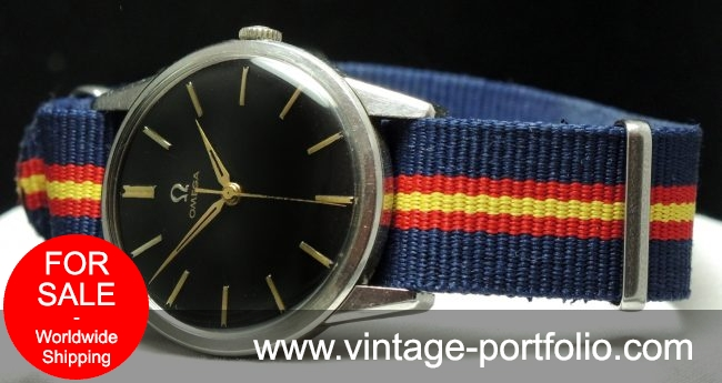 Omega Military Style Watch black dial Vintage