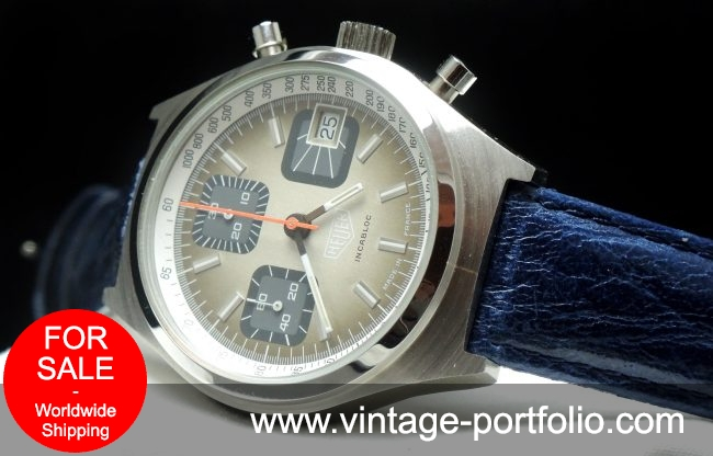 Serviced Heuer Incabloc 97517 Vintage Chronograph 70ties
