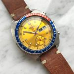 Gorgeous Seiko Chronograph Pepsi Pogue with leather strap