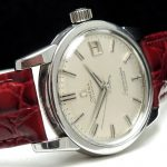 Wonderful Omega Seamaster Calendar with Big Seahorse Logo and Linen dial