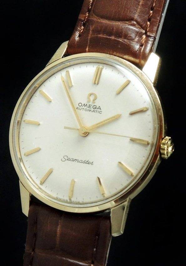 1967 Perfect Omega Seamaster Automatik Automatic  solid gold Vintage
