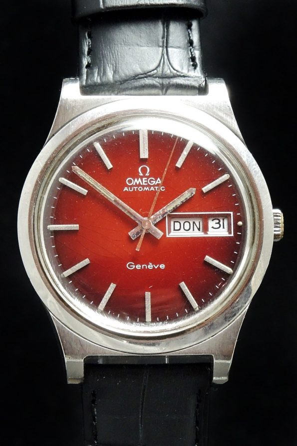 Omega Geneve Automatik Day Date with Burgundy Dial
