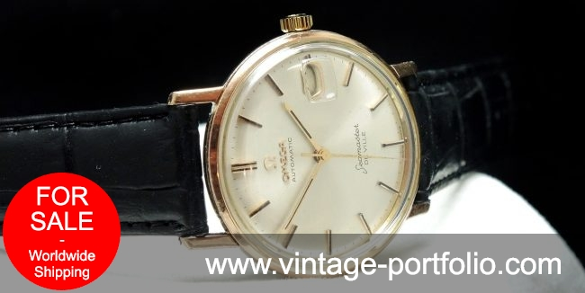 Pink gold plated Omega Seamaster De Ville Automatik Automatic