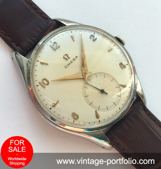 Serviced Vintage Omega 38mm Oversize Jumbo watch with applied indices
