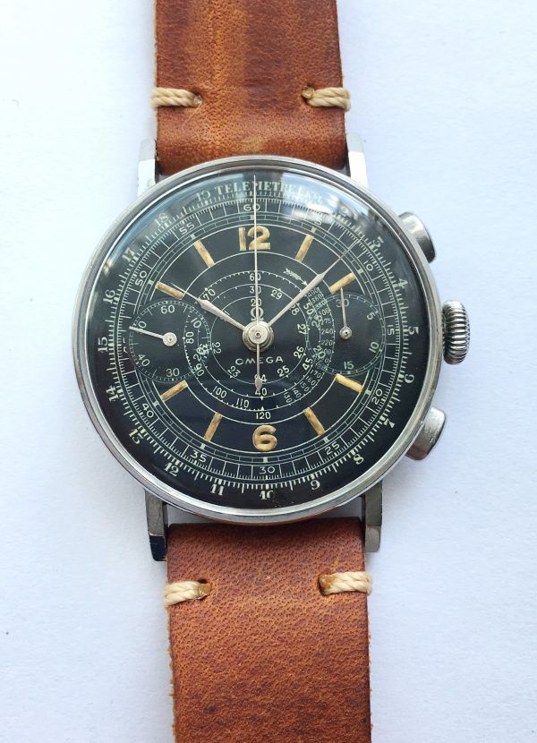 Restored Omega Vintage Chronograph cal 33.3 Sector dial