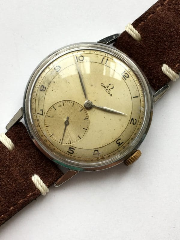 Early Omega Oversize Jumbo Two Tone Dial white 30t2
