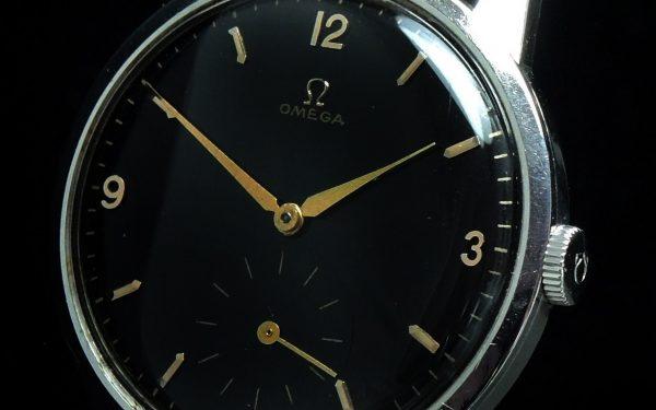Wonderful 38mm Omega Vintage Steel black dial