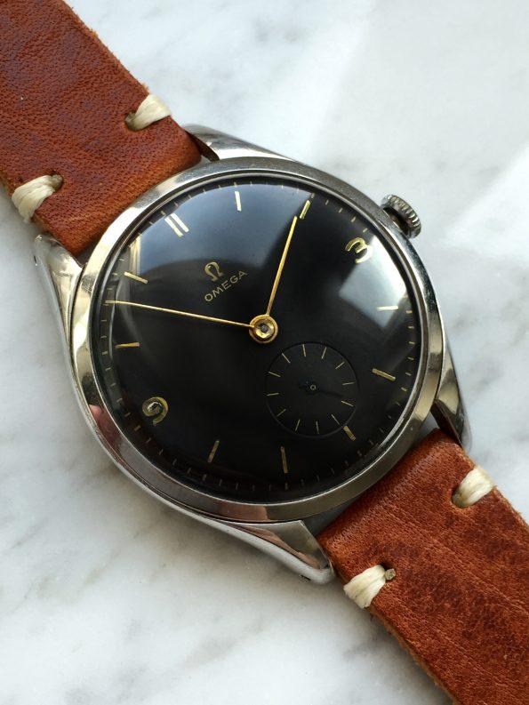 Vintage Omega OVERSIZE 38mm Black Refurbished Dial