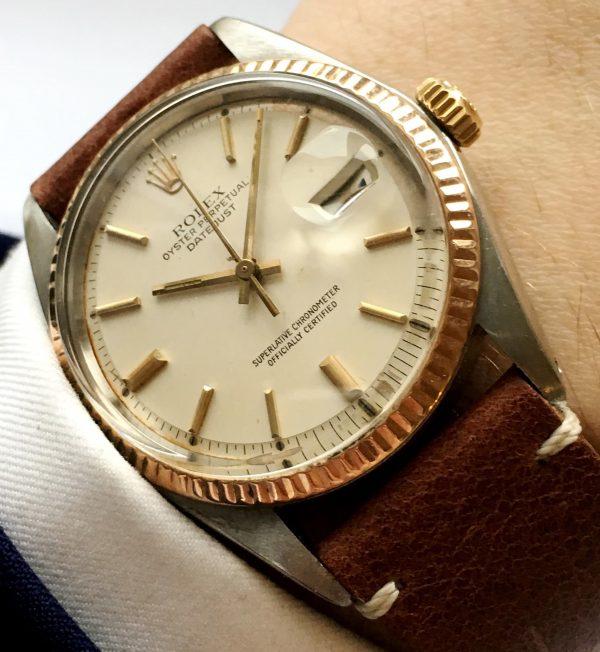 Rare Rolex Datejust Rosegold Steel Vintage