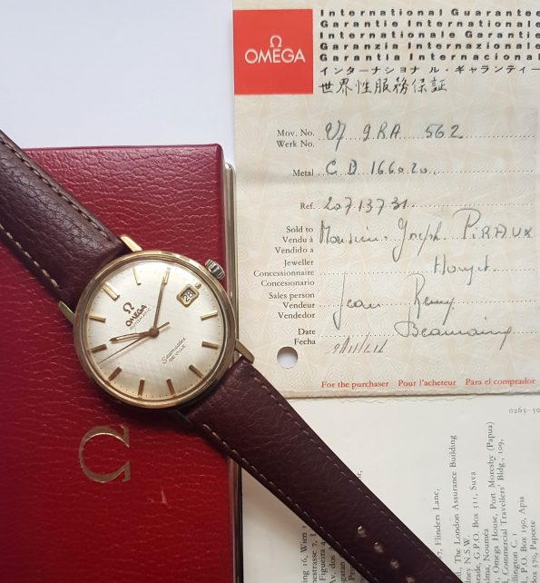 Great Omega Seamaster Automatic Linen Dial Full Set