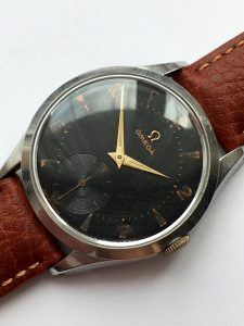 Wonderful 36mm Omega Steel Watch black dial