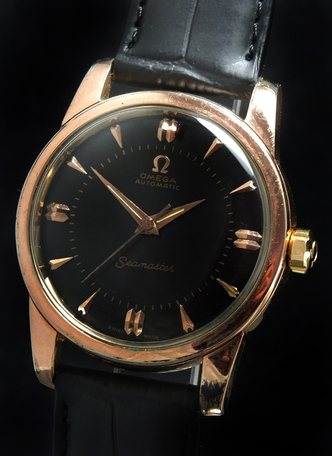Vintage Rose Gold Plated Omega Seamaster Automatic