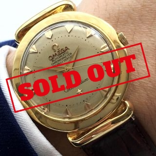 Omega Constellation Pie Pan Automatik Grand Lux Vollgold