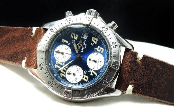 Beautiful Breitling Colt Chronograph Automatic blue dial