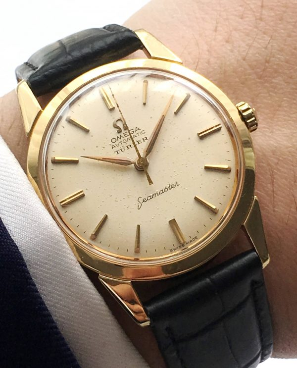 Serviced Omega Seamaster Automatic Vollgold Türler