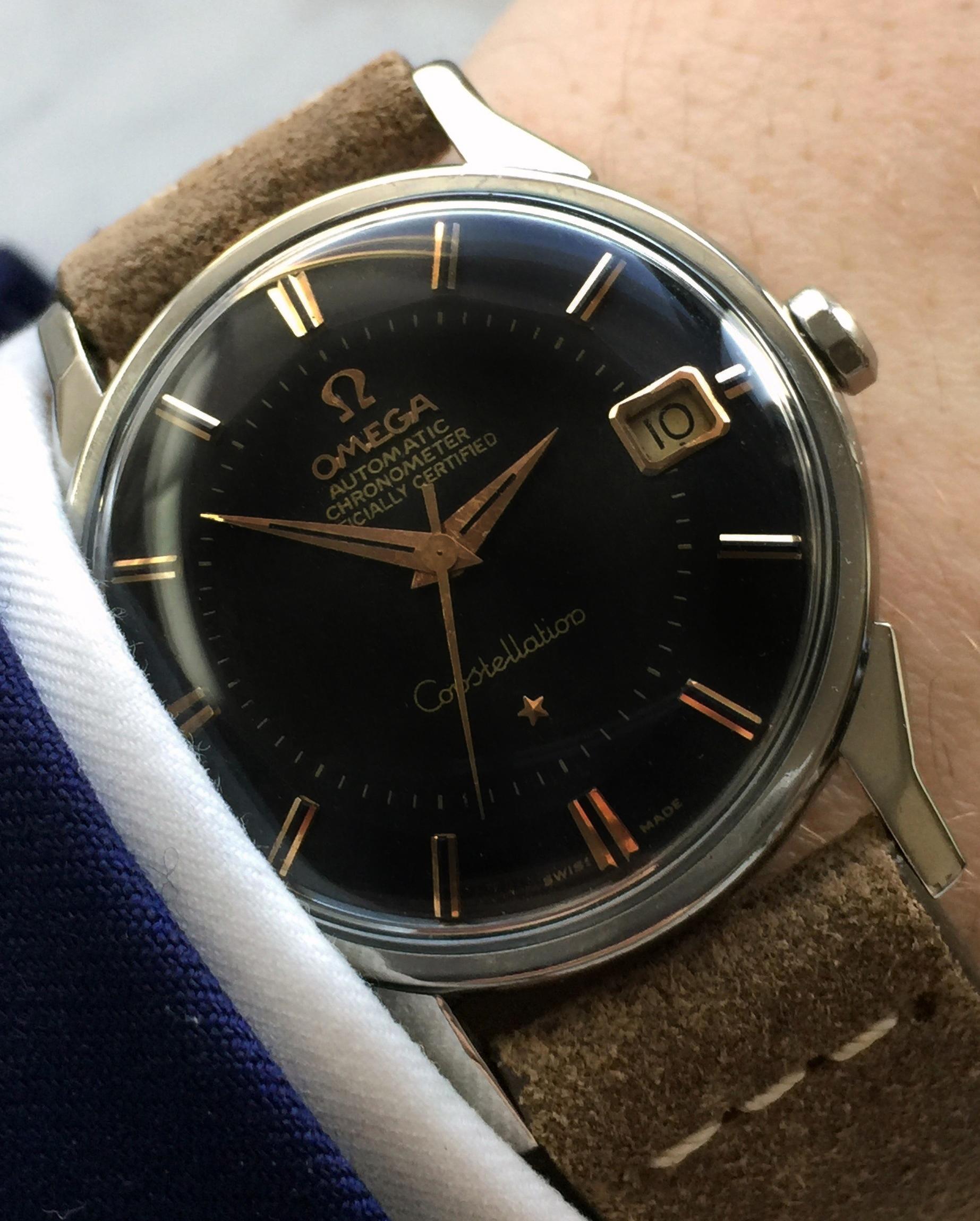 Vintage Omega Constellation black dial fully restored