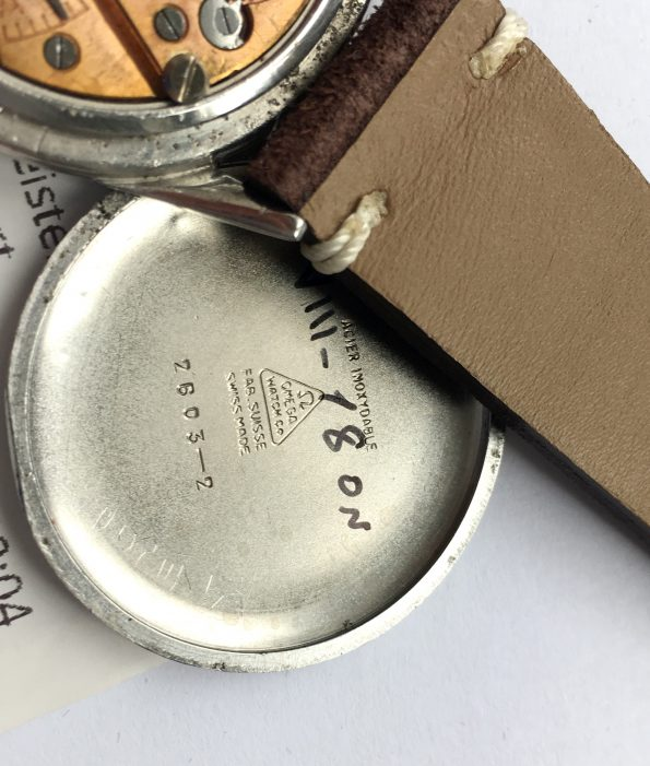 Servicierte Omega SCARAB 38mm Oversize Jumbo Vintage Leinen Ziffernblatt
