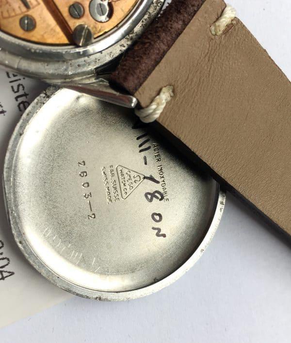 Serviced Omega 38mm Oversize Jumbo Vintage Linen Dial