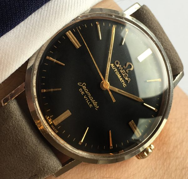 Omega Seamaster Vintage De Ville Automatic Steel black dial