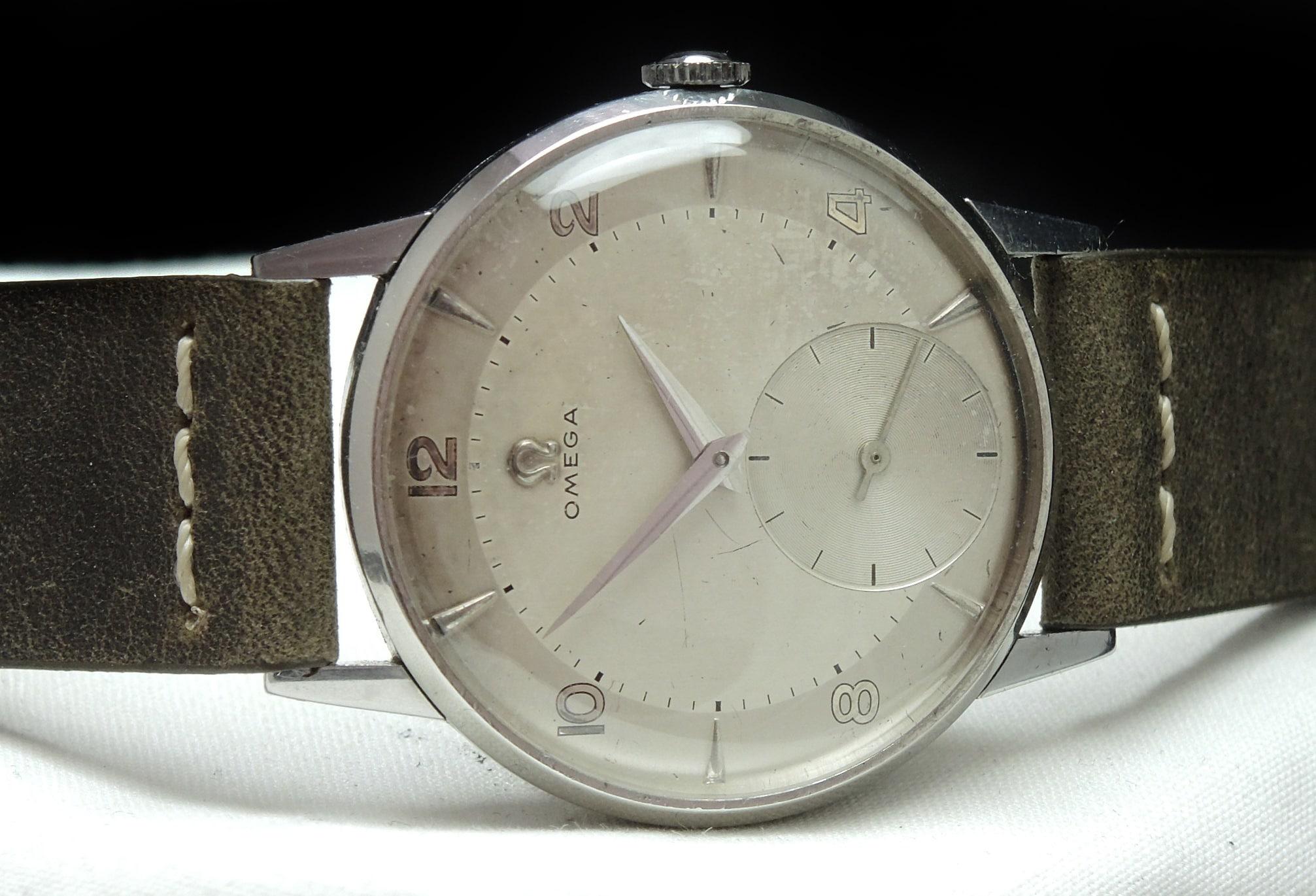 Unrefurbished Vintage Omega 30T2 Cream Dial 36mm
