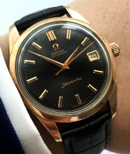 Serviced Omega Seamaster Automatic pink gold plated