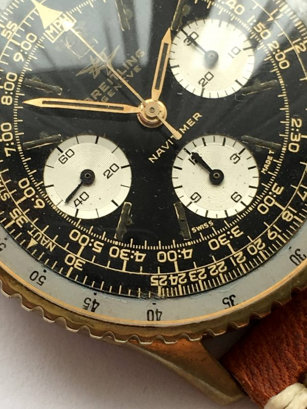 Interesting Breitling Navitimer Vintage 806 GILT DIAL