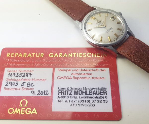 At Omega Serviced Omega Constellation Steel