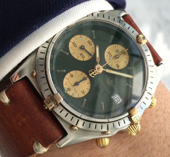 Servicierter Breitling Chronomat Vintage Automatik grünes ZB