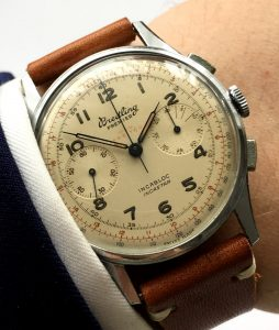 Rare 38mm Breitling Permier Steel Chronograph