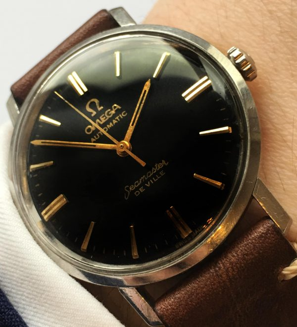Great Omega Seamaster De Ville Automatic Steel black dial