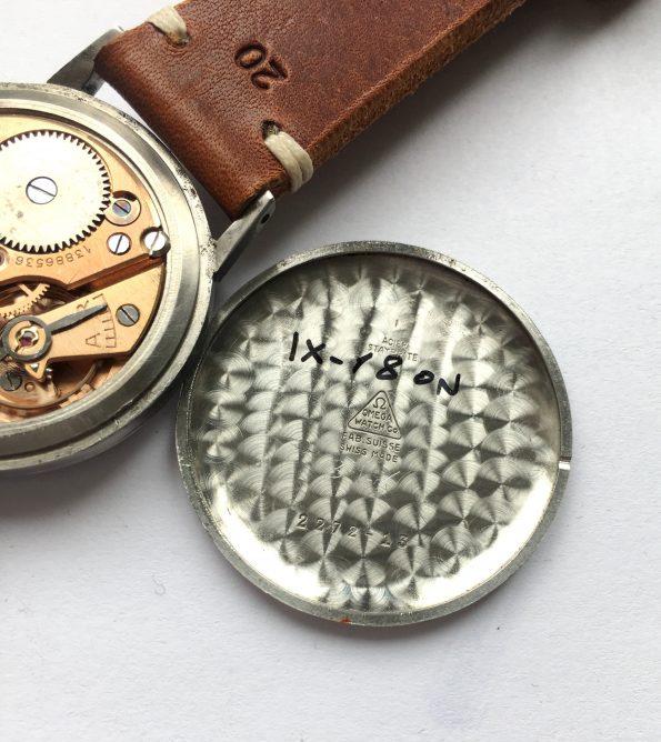 50ties Omega 38mm Oversize Jumbo Vintage Black Dial