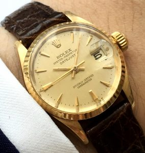 Vintage Rolex Lady Datejust Solid Gold 18ct