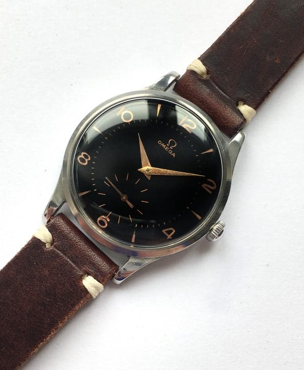 Serviced Omega 38mm Oversize Jumbo Vintage Black Dial