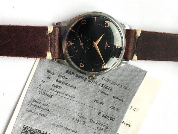 Serviced Omega 38mm Oversize Jumbo Vintage Black Dial