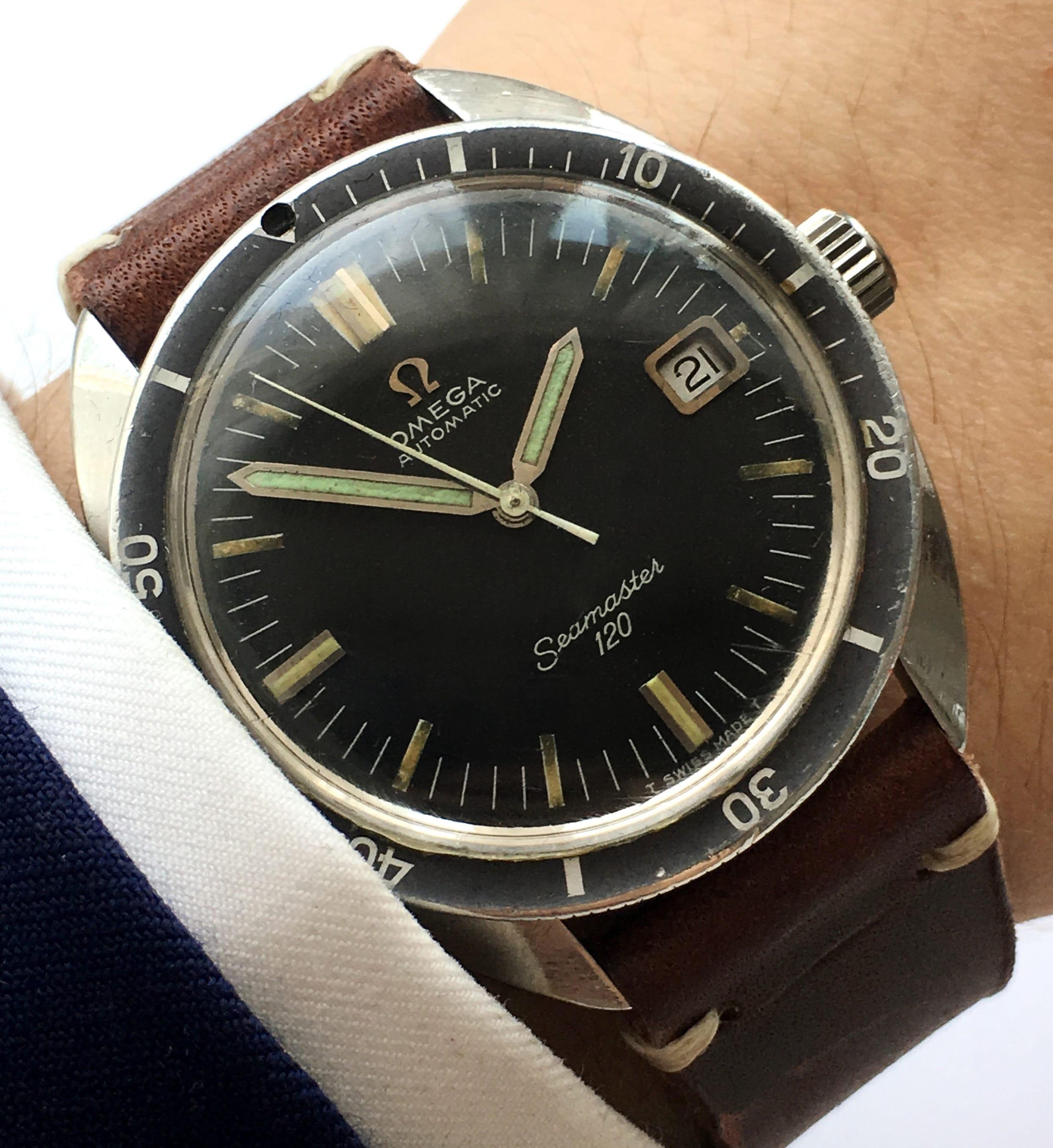 Great omega seamaster 120 vintage diver automatic vintage portfolio for Omega diver