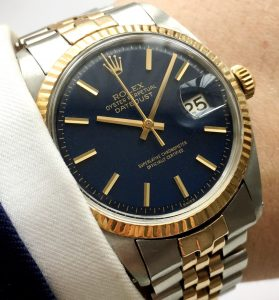 Wonderful Rolex Datejust Automatic blue dial