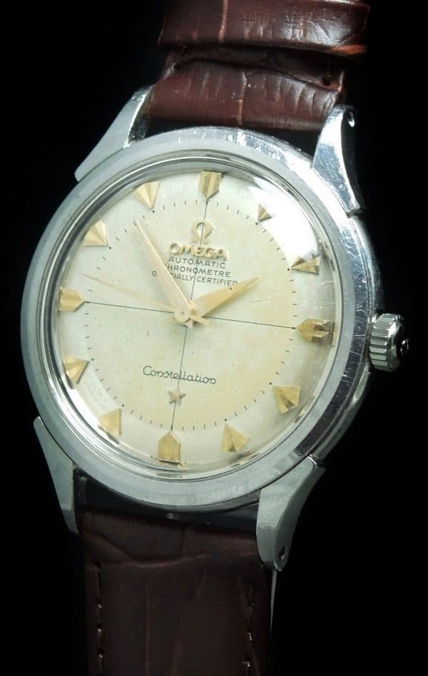Unpolished Omega Constellation Pie Pan Shark tooth Indices