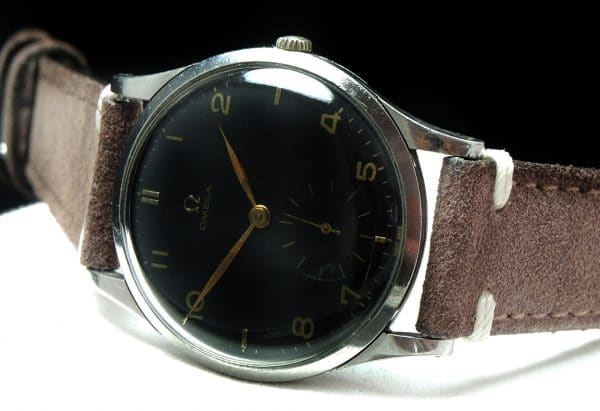 Oversize Jumbo Vintage refurbished black dial 38mm