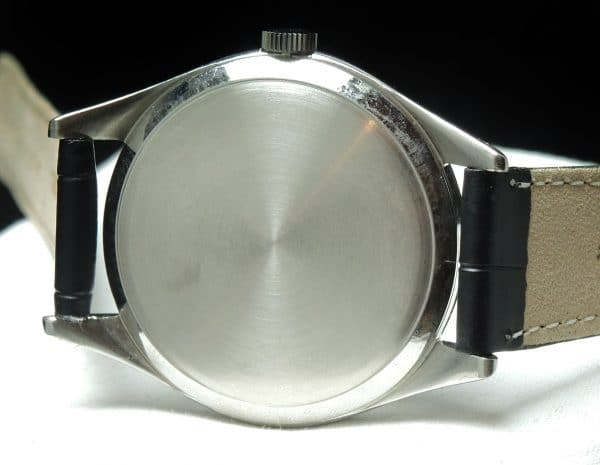 Steel Steel Omega 38mm Oversize Jumbo Vintage Black Dial