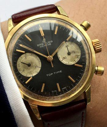 [:en]Serviced Vintage Breitling Top Time Reverse Panda dial[:de]Servicierte Breitling Top Time Reverse Panda dial[:]