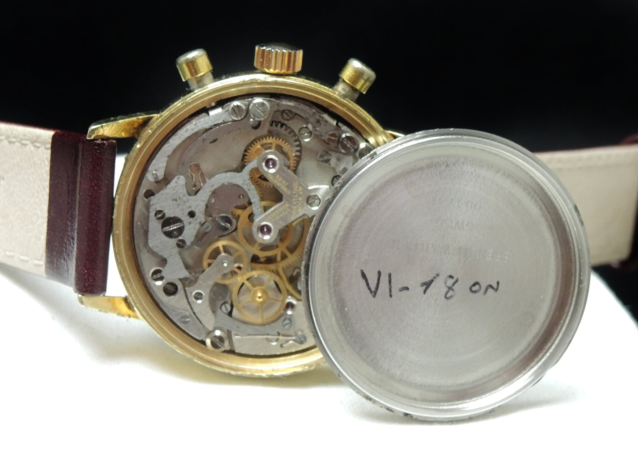 Serviced Vintage Breitling Top Time Reverse Panda dial