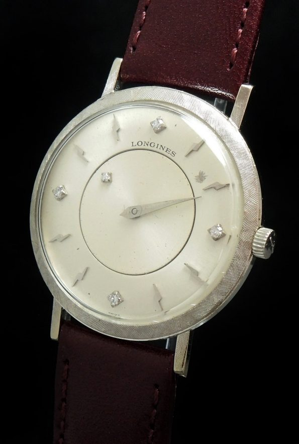 EXTRACT Galaxy Mystery Diamond Dial Longines White gold case