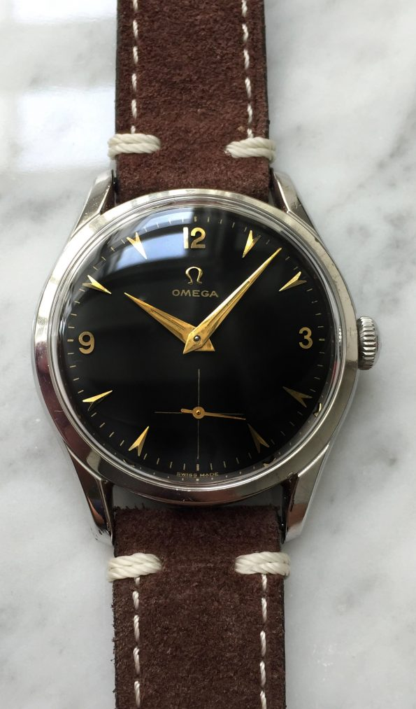 Vintage Omega Refurbished Black Explorer Dial