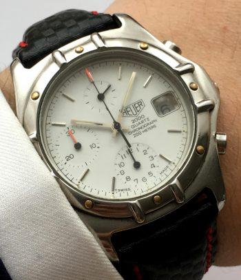 [:en]Heuer 2000 Vintage Quarz Quartz Chronograph white dial[:de]Heuer 2000 Vintage Quarz Quartz Chronograph weisses Ziffernblatt[:]