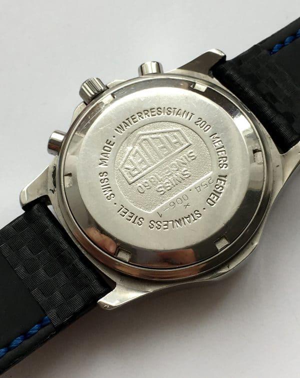 Heuer 2000 Vintage Quarz Quartz Chronograph white dial