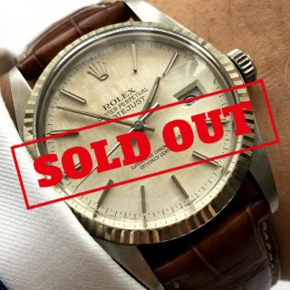 Genuine Rolex Datejust with perfect linen dial Automatic