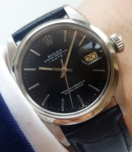 Datejust-Sister 35mm Rolex Date Automatic black dial